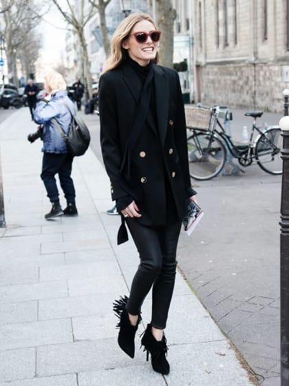 Lässig, chic oder lieber girly? So stylst du deine Lederleggings wie Olivia Palermo & Co.