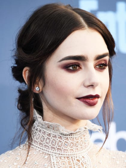 The Pros & Cons Of Vampy Makeup À La Lily Collins | Stylight
