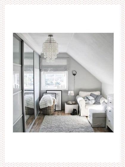kleines schlafzimmer ideen weiß creme kleiderschrank schiebetüren