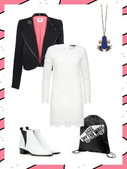business look mit wei em spitzen kleid dein b ro outfit. Black Bedroom Furniture Sets. Home Design Ideas