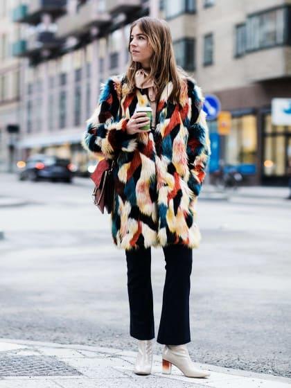 Buntes Fake Fur: So stylt ihr den Supertrend richtig