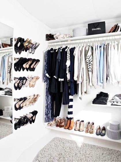 Die 10 besten Ideen und Tipps für begehbare Kleiderschränke