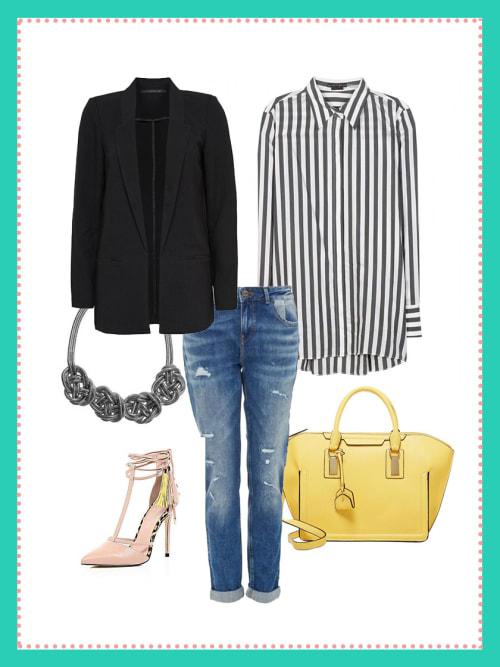 business look mit boyfriend jeans dein b ro outfit f r heute stylight. Black Bedroom Furniture Sets. Home Design Ideas