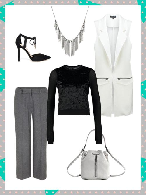 business look mit longweste dein b ro outfit f r heute stylight. Black Bedroom Furniture Sets. Home Design Ideas