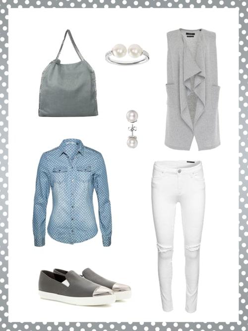 business look mit denim shirt dein b ro outfit f r morgen stylight. Black Bedroom Furniture Sets. Home Design Ideas