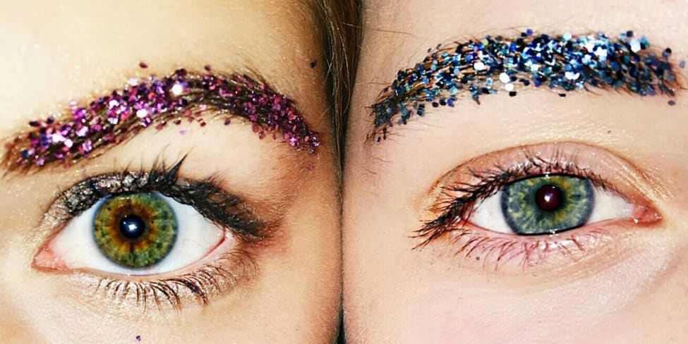 So Glitter Brows Are The Latest WTF Beauty Trend