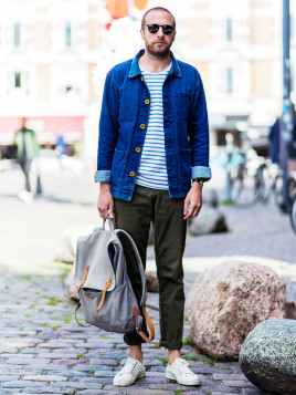 Männer-Look mit Rucksack