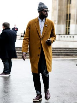 Senfgelber Mantel für Herren