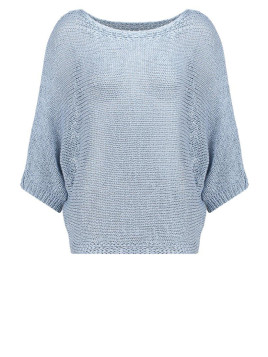 LIDIA PAN Stickad tröja blue fog