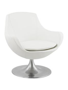 Fauteuil COKPIT rotatif design en matière synthétique blanche