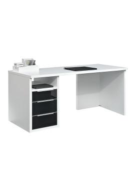 Schreibtisch Work II - Weiß/Schwarz, Arte M