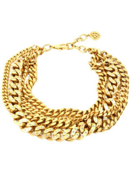 Gold Chain Torsade Crystal Necklace