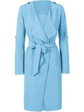 Trench-coat léger avec ceinture en tissu bleu femme - bonprix