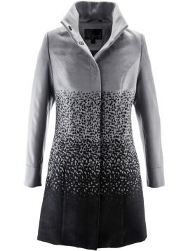 Manteau imitation laine gris manches longues femme - bonprix