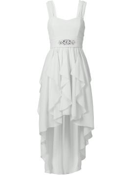 Maxi-Kleid in weiß von bonprix