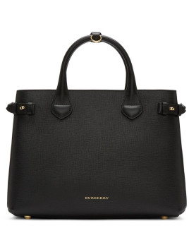 Medium Banner House Check Derby Leather Tote