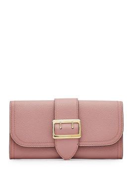 Portemonnaie aus Leder - Fuchsia