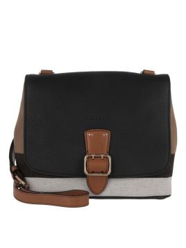 Tasche - Brit Grainy Canvas Check Small Shellwood Crossbody Black - in schwarz - Umhängetasche für Damen