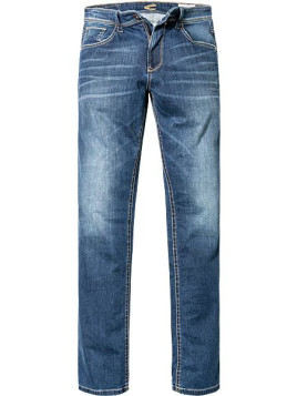 Herren Bluejeans Straight Fit Baumwoll-Stretch denim blau