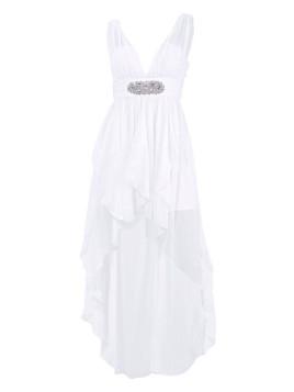 Damen Cocktailkleid weiß Figurbetonte Form