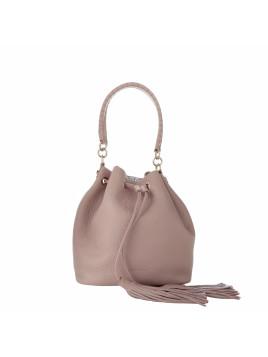 Tasche - Megan Bucket Bag Pelle Vitello Double Velvet/ Silver - in rosa, silber - Umhängetasche für Damen