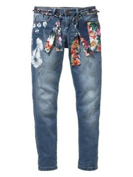 Desigual 7/8-Jeans »Aloha« blau