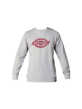 Sweat gris chiné print logo feuillage Chicago - Dickies Homme