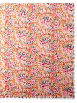 Floral-Print Tablecloth, 70 x 90