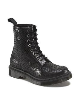 1460 Patent BLACK, Damen Bootsschuhe, Schwarz (Black), 42 EU (8 Damen UK)