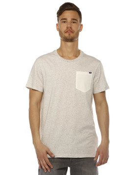 T-shirt Homme G-star Raw Riban Pocket Rt S/s - Milk Htr