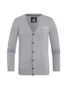 Cardigan Section gris Hommes