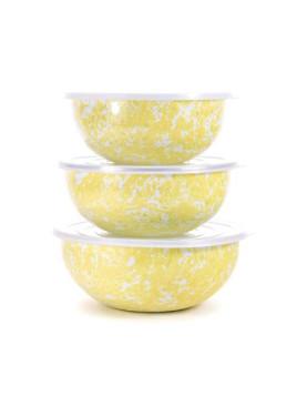 Enamelware Mixing Bowls Yellow