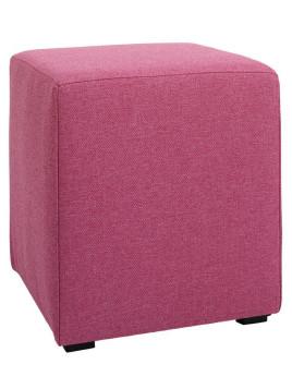 Hocker pink ca. 40/35/35 cm Mit Kunststofffüßen