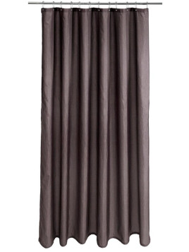 Unisex Duschvorhang grau Inklusive Aufhängeösen