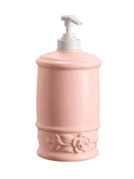 Unisex Seifenspender rose Abschraubbarer Pump-Mechanismus zum einfachen Befüllen
