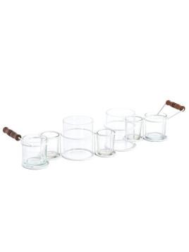 Unisex Tischleuchter weiß H/B ca. 11/60 cm Lieferung ohne Kerzen