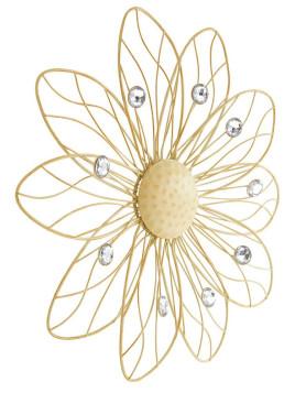 Unisex Wand-Deko?Blüte? weiß ca. 40 cm