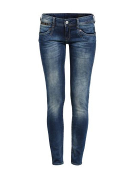 Powerstretch Slim Denim Piper blau