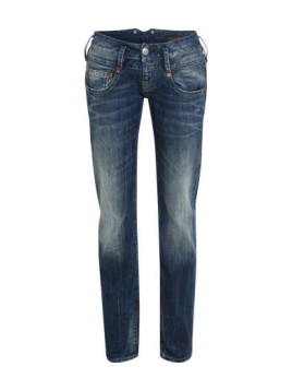 Straightcut Denim im Vintage Look Pitch blau