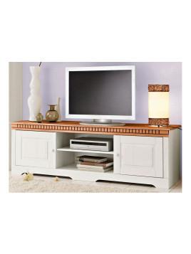 TV-Lowboard, weiß, Landhaus Stil, Kiefer, FSC-zertifiziert