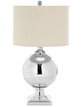 Clary Glass Table Lamp - 29Hx15Wx15D Silver