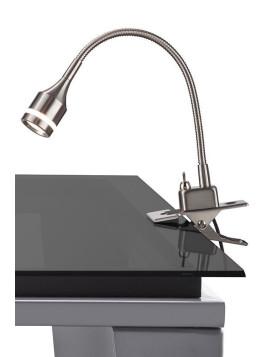 Lowell Clip Lamp - Adjustable Grey Steel