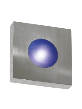 Pop Square Sconce/Flush Mount - Small Polished Aluminum