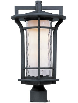 Theo All-Weather Outdoor Patio Post Mount Lantern - Incandescent Black Oxide
