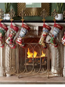 Swag & Tassel Fireplace Screen - Neiman Marcus