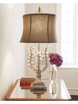 Upside-Down Glass Leaf Lamp - Neiman Marcus