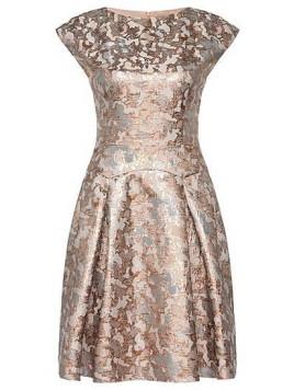 Kleid aus Baumwoll-Mix mit Metallic-Effekten: Kristena
