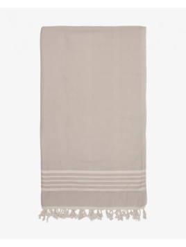 Terry-Lined Bath Towel, Grey