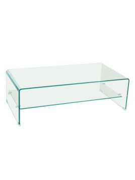 Table basse design SIDE en Verre trempé 12mm Transparent
