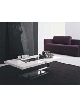 Table basse laque et verre de MURANO
